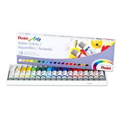 18 Color Pentel Arts Watercolor Set, PENWFRS18