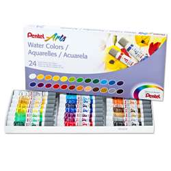 24 Color Pentel Arts Watercolor Set, PENWFRS24