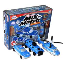 Magnetic Vehicles Police Mix Or Match, PPY60316