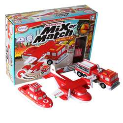 Magnetic Vehicles Fire & Rescue Mix Or Match, PPY60317