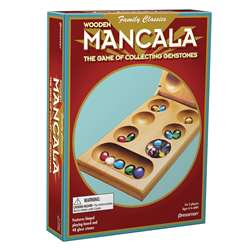 Mancala Ages 6 To Adult 2-4 Players By Pressman Toys