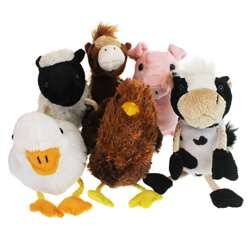 Farm Animals Finger Puppets 6St, PUC002021