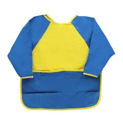 Kinder Smocks Long Sleeves Ages 2-3 W/ Pocket By Peerless Plastics