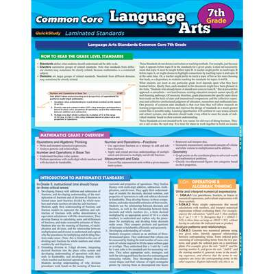 Common Core Language Arts Gr 7 Standards, QS-222750