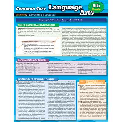 Common Core Language Arts Gr 8 Standards, QS-222767