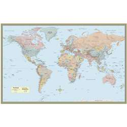 World Map Laminated Poster 50 X 32 By Barcharts
