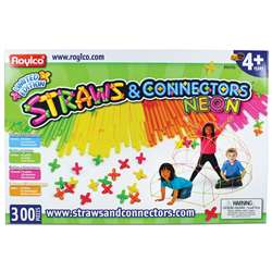Straws & Connectors 300 Pieces Neon Colors, R-60705