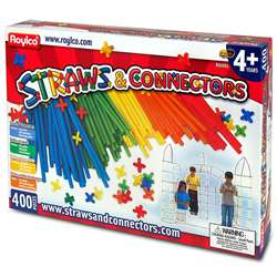 Straws & Connectors 400Pcs By Roylco
