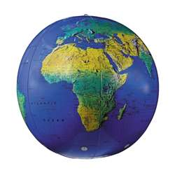 Inflatable Topographical Globe 12In By Replogle Globes