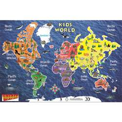 Kids World Peel & Stick Wall Map 42X30, RE-72161