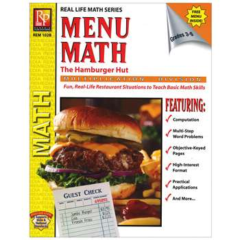 Menu Math Hamburger Hut Book-2 Multi Standard Iv By Remedia Publications