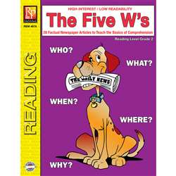 The 5 Ws 2Nd Grade Reading Level By Remedia Publications