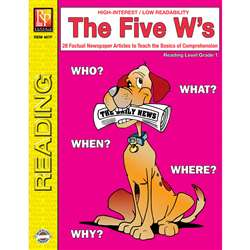 The 5 Ws 1St Grade Reading Level By Remedia Publications