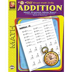 Easy Timed Math Drills Addition By Remedia Publications
