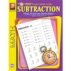 Easy Timed Math Drills Subtraction By Remedia Publications