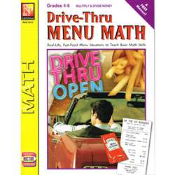Drive Thru Menu Math Multiply & Divide Money By Remedia Publications