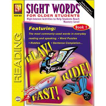 Sight Words For Older Students Book 1 By Remedia Publications