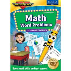 Math Word Problems Test Taking Strategies Dvd Gr 3-4 By Rock N Learn