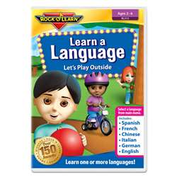 Rock N Learn Learn A Language DVD Lets Play Outsid, RL-315