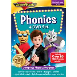 Rock N Learn Phonics 4 DVD Set, RL-329