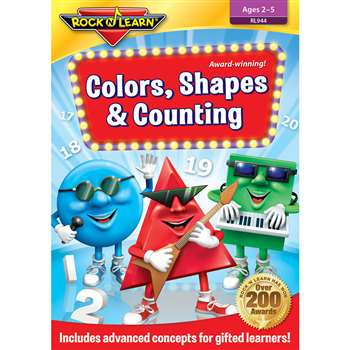Colors Shapes & Counting Dvd By Rock N Learn