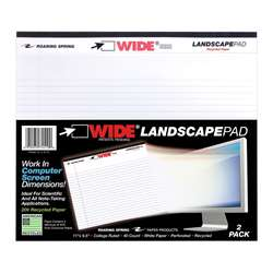 Legal Pad Landscape White 2 Pack, ROA74510