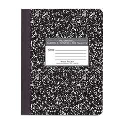 Marble Composition Book Black, ROA77230