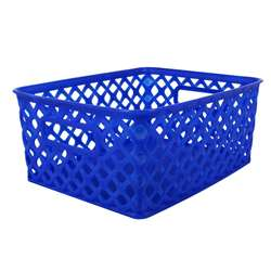 Small Blue Woven Basket, ROM74004