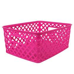 Small Hot Pink Woven Basket, ROM74007