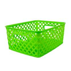 Small Lime Woven Basket, ROM74015
