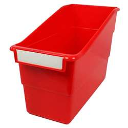 Red Shelf File With Label Holder Standard, ROM77202