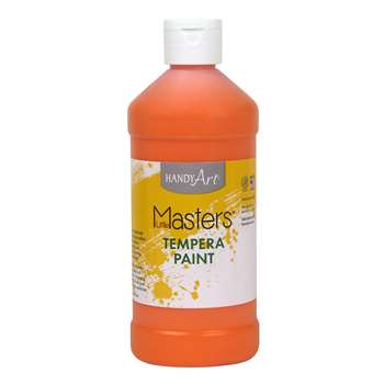 Little Masters Orange 16Oz Tempera Paint By Rock Paint / Handy Art