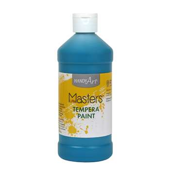Little Masters Turquoise 16Oz Tempera Paint By Rock Paint / Handy Art