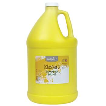 Little Masters Yellow 128Oz Tempera Paint By Rock Paint / Handy Art