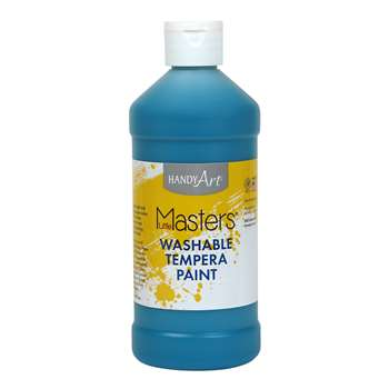 Little Masters Turquoise 16Oz Washable Paint By Rock Paint / Handy Art