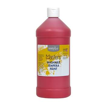 Little Masters Red 32Oz Washable Paint By Rock Paint / Handy Art