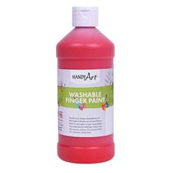 Handy Art Red 16Oz Washable Finger Paint By Rock Paint / Handy Art