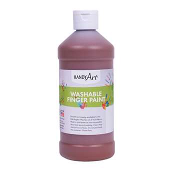 Handy Art Brown 16Oz Washable Finger Paint By Rock Paint / Handy Art
