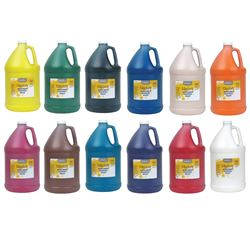 128Oz Washable Tempera All Colors Handy Art, RPCHA128ALL-12