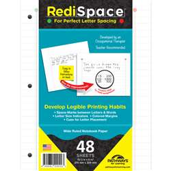 Redi Space Transitional Notebook Paper 48 Shts, RS-48FP