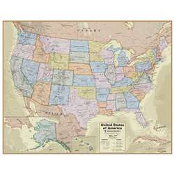 Boardroom Series USA Wall Map Hemispheres Laminate, RWPHM04