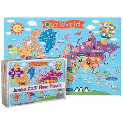 World Floor Puzzle For Kids, RWPKP03