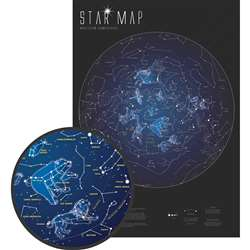 "Glow "" The Dark Star Map, RWPMI03"