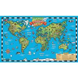 Kids World Map Intractve Wall Chart With Free App, RWPWC04