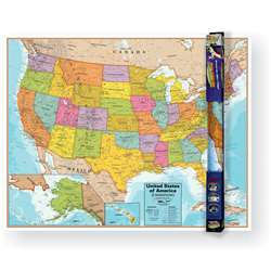 United States Wall Chart with Interactive App, RWPWC06