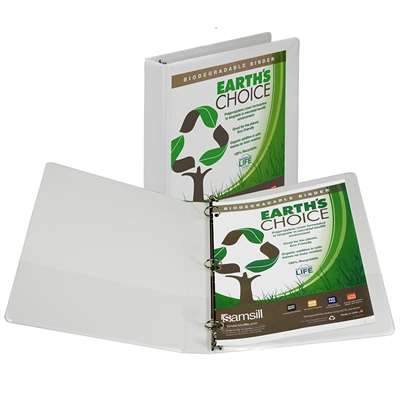 Earths Choice 1In Biodegradable Binder White By Samsill