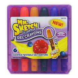 Mr Sketch Scented Gel Crayons 6 Ct, SAN1951332
