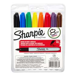 Sharpie Permanent Fine Point 8-Set Marker Set By Newell