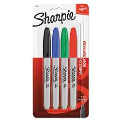 Sharpie Fine 4 Color Set Carded By Newell