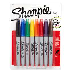 Sharpie Fine 8 Color Set Carded By Newell